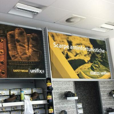 UNIFIX a Terlano (BZ), stampe di grande formato per spazio vendita